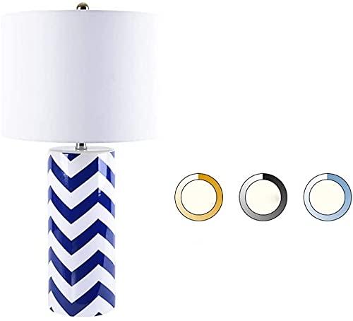 JAOSY Lámpara de Mesa de cerámica de Moda lámpara de mesita de Noche para Dormitorio de Hotel en casa lámpara Tricolor Ajustable 36 * 70 cm