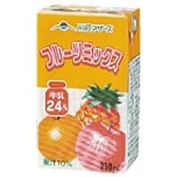 らくのうマザーズ フルーツミックス250ml紙パック×24本入×(2ケース)