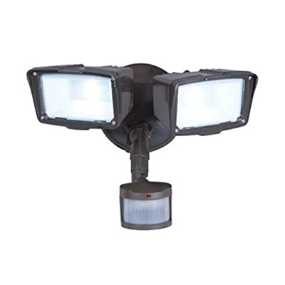 All Pro Outdoor Security 180-Degree Motion Activated Twin Head LED Floodlight