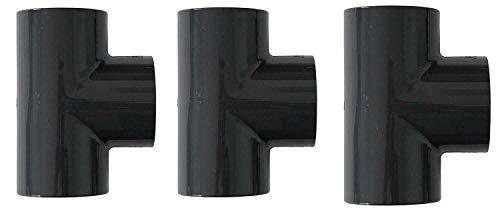 10 Stück PVC T-Stück 90° mit 3facher Klebemuffe 50mm