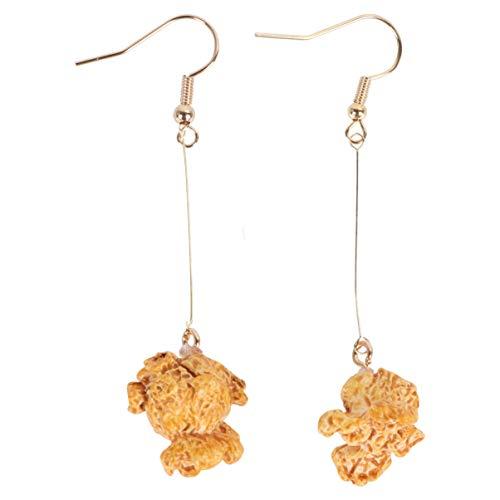 Holibanna Popcorn Ohrringe Lustige Tropfen Baumeln Personalisierte Mode Charme Stud Ohrhaken Clip Schmuck Geschenk für Mädchen Dame Frauen