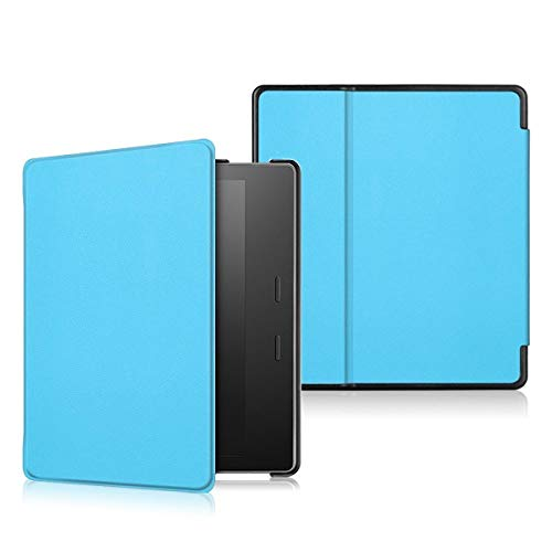 GLGSHOULIAN Custodia per Kindle,Custodia per 7Inch Amazon 2019 Kindle Oasis 3 E per Amazon 2017 Kindle Oasis 2 Slim Flip Leather Cover Case Lettore di Ebook, Light Blue