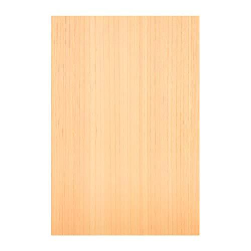 森の紙 極薄 天然木の紙 ひのき 柾目 葉書サイズ 20枚入り インクジェットプリンター対応 裏面ハガキ印刷
