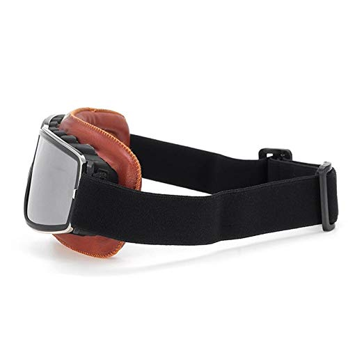 Retro Vintage Moto Gafas Protección UV Cafe Racer Flying Eyewear Gafas Piezas de la Motocicleta Herramienta de la Motocicleta (Color : Red Silver)