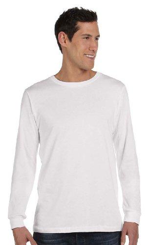 Bella 3501 Mens Jersey Long Sleeve Tee - White44; Medium