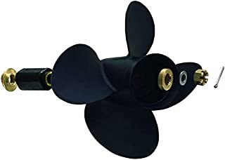 POLAMAX Aluminum 4 Blade Prop Propeller with Interchangeable Hub Kits for BRP/Johnson/EVINRUDE/OMC Stern Drive DF90/115HP