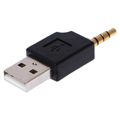 SimpleLife Adaptador Auxiliar Auxiliar de 3,5 mm a USB 2,0 Macho para Apple iPod Shuffle 1º 2º MP3