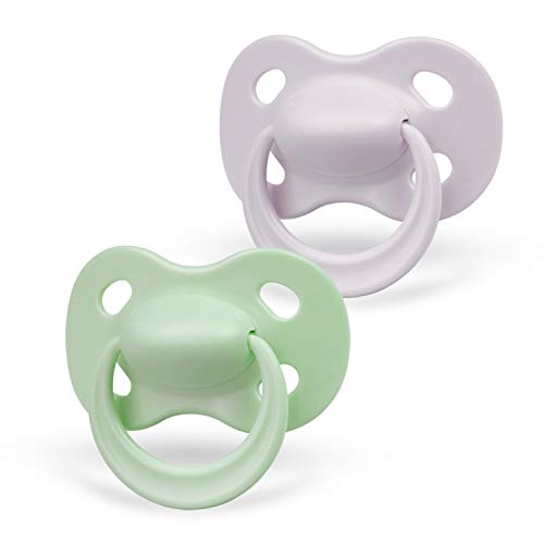 Medela Baby Pastel Pacifier for 18-36 Months, Perfect for Everyday Use, Bpa Free, Lightweight & Orthodontic, Baby Pacifiers for Boys & Girls - 2 Pack, Green/Grey