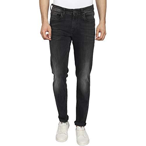 blackberrys Solid Black Coloured Cotton Jeans