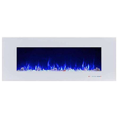 DYHA Haard elektrisch met verwarming 750 of 1500 Watt vermogen wandhaard elektrische timerfunctie met afstandsbediening rookvrij regelbare thermostaat