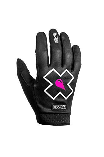 Muc-Off MTB-Handschuhe Schwarz Größe L - Premium handgefertigte Slip-On-Fahrradhandschuhe - Atmungsaktiv und Touchscreen-kompatibel