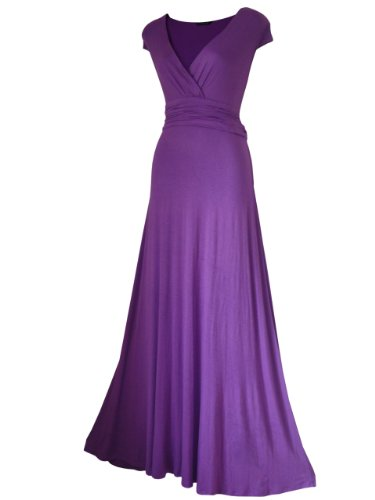 Look for the Stars LANG/VOLLE LÄNGE/Abend/Party/Ball Maxi Kleid größen EU 36-24 - Lila, 44
