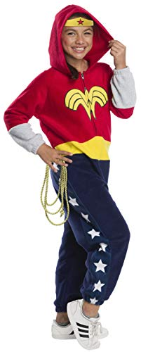 Rubie's DC Super Heroes Girl's Wonder Woman One-Piece Costume Jumpsuit, Small