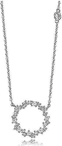 ZGYFJCH Co.,ltd Collares Collar de Moda para Mujer Hombre S925 Clavícula Círculo Círculo Redondo Collar Coreano para Mujeres Regalos para Mujeres y Hombres