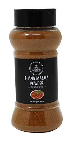Naturevibe Botanicals Chana Masala Powder 4.4ounces | Salt Free and Gluten Free | Indian Spice and Seasoning