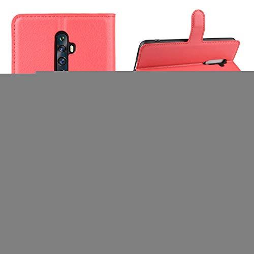 GLXC AYDD para OPPO RENO2 F / RENO2 Z Litchi Texture Horizontal Flip Funda con Billetera y Soporte y Ranuras para Tarjetas (Color : Red)