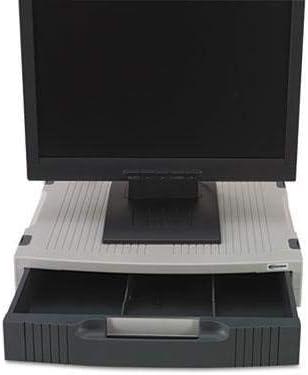Basic LCD Monitor Stand, 15 x 11 x 3, Light Gray/Charcoal
