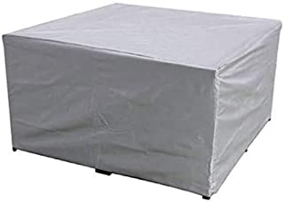 dDanke Rectangular Patio Table & Chair Set Cover, Sun Block/Waterproof/Snowproof/Windproof/Dustproof Furniture Cover, Silv...