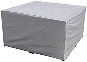 dDanke Rectangular Patio Table & Chair Set Cover, Sun Block/Waterproof/Snowproof/Windproof/Dustproof Furniture Cover, Silv...