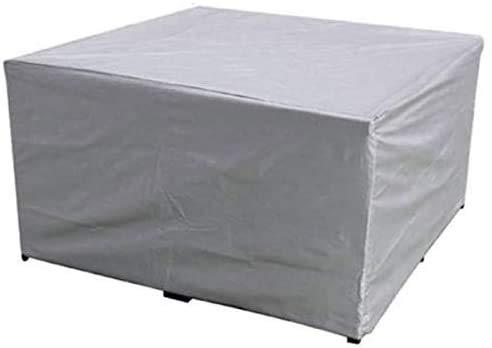 dDanke Abdeckung für Gartenmöbel Wasserdicht Staubdicht Witterungsbeständig Sitzgruppe Sitzgarnituren Abdeckhaube Rechteckig Silber (123x61x72cm)