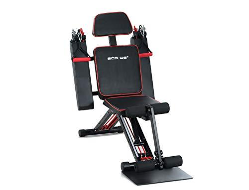 ECODE Gimnasio en casa Multiestación de Fitness Biceps Triceps Pectorales Abdominales Lumbares Total Gym 50 ejercicios, ECO-849 ⭐