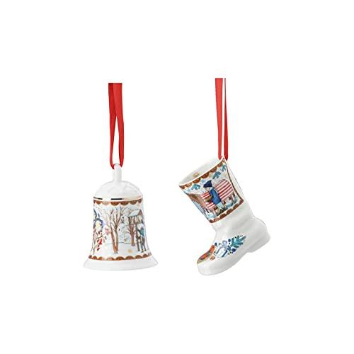 Glocke + Stiefel 2021 Weihnachtsgaben - Hutschenreuther - Porzellan Weihnachten