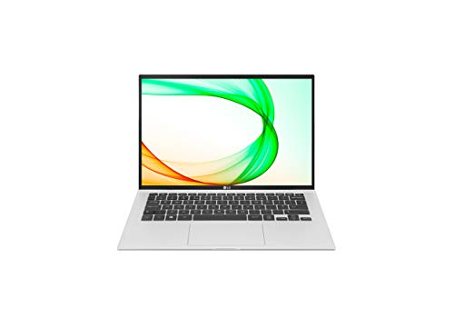 LG gram 14Z90P Silver, Ultra-Lightweight 999g, 14-inch laptop, Long lasting battery life, Intel Core i5-11th Gen, 8 GB, SSD 256 GB