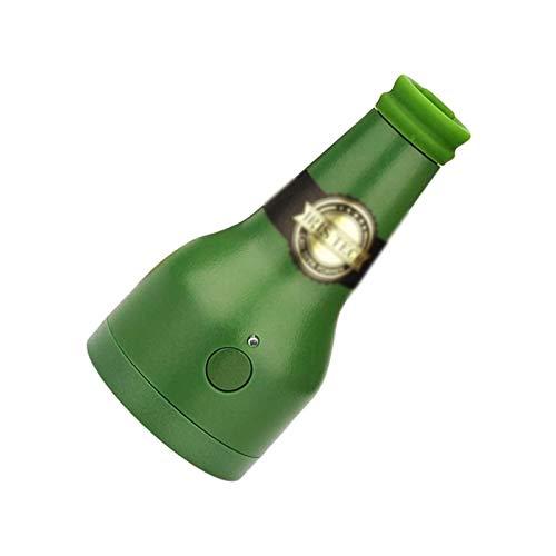 Huachaoxiang Ultrasónica Bieraufschäumer, Dispensador De Cerveza Portátil De Vibración Ultrasónica Cerveza Batería Espuma Cremosa Vaporizador Servidor Mantener El Buen Gusto,Verde