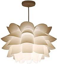LEDMOMO Pendant Lamp Assembly Lotus Chandelier Ceiling Pendant Lampshade DIY Puzzle Lights Modern Lamp Shade 36cm Diameter (White)