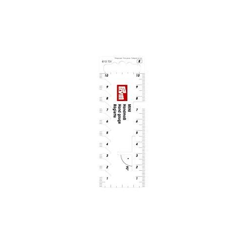 Prym, weiß 610731 Handmaß Mini, Plastik, 11.5 x 4 x 0.1 cm
