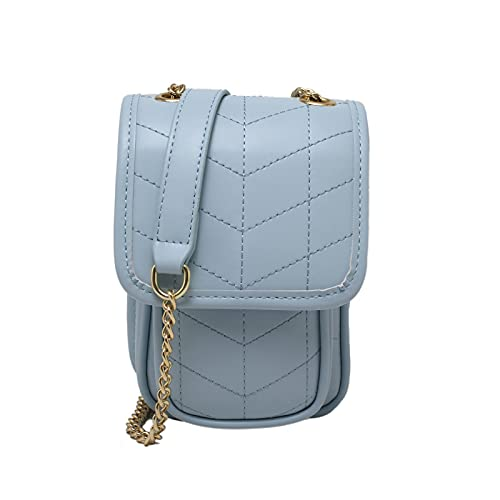 QIANJINGCQ New Mobile Phone Bag Female Bag Wild Small Fresh Chain Bag Messenger Bag Fashion Rhombus One-Shoulder Small Square Bag Backpack