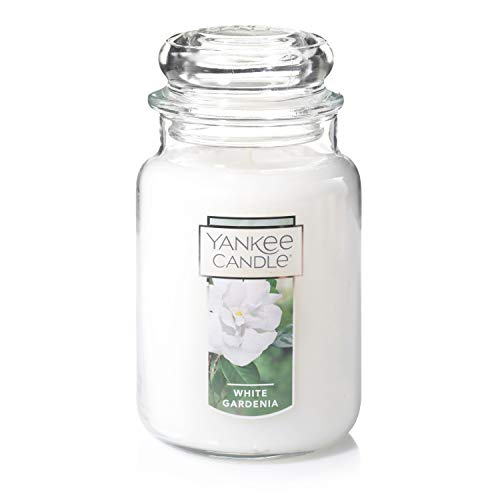 Yankee Candle White Gardenia Scented Premium Paraffin Grade Candle Wax with up to 150 Hour Burn Time, Large Jar