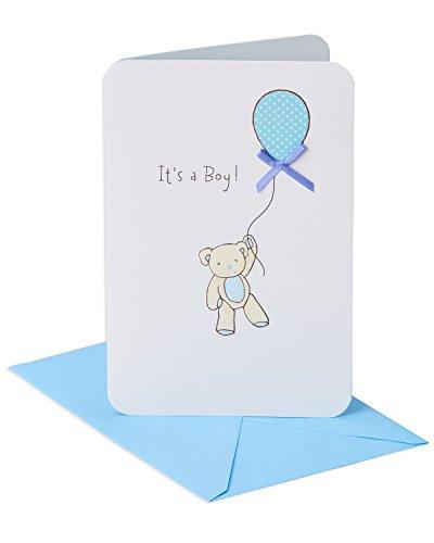 Amerikanische Grüße Glückwunschkarte für Jungen mit Bärenmotiv