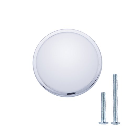 AmazonBasics - Pomo de armario, con forma de seta, 3,02 cm de diámetro, cromo pulido - paquete de 50