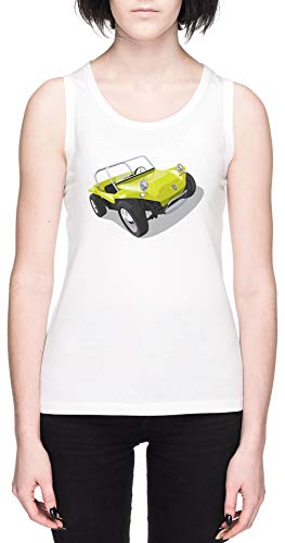 Manx Strand Buggy Weißes Damen Tank T-Shirt Größe S White Women's Tank Tee Size S