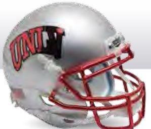 Schutt NCAA UNLV Runnin Rebels Mini Authentic XP Football Helmet, 2015 Silver Alt. 2