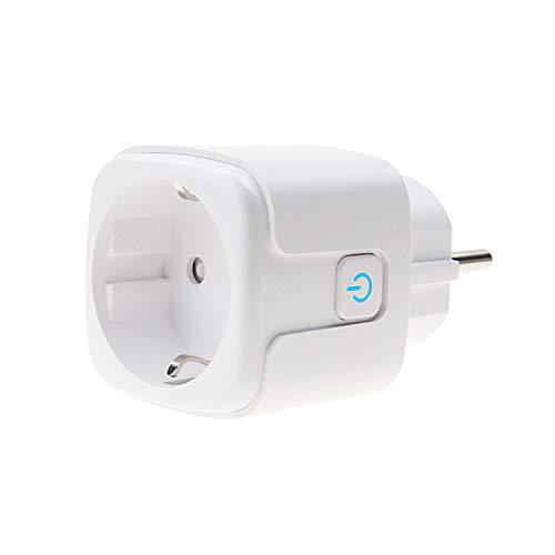 100–240V Estándar UE 16 A WiFi Mando a Distancia Smart Plug Outlet Control por voz Mini Enchufe Inteligente Inalámbrico Enchufe para la Automatización Doméstica Compatible con Alexa,Google Home