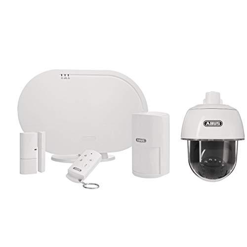 ABUS Basisset FUAA35001A Smartvest, Zentrale, Funk Öffnungsmelder, Fernbedienung inklusive Außenkamera Überwachung Sicherheitssystem Alarm Schutz von Einbruch | Benachrichtigung via Smartphone