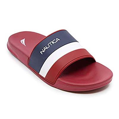 Nautica Men's Athletic Slide Comfort Sandal-Filton-Red-9