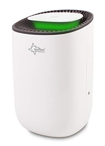 SUNTEC Mini Luftentfeuchter DrySlim 300 Point – für Räume bis 30 M³ (12,5 m2) | Raumentfeuchter mit 300 ml/Tag Entfeuchtung | Entfeuchter klein elektrisch extra leise | ökologisch ohne Kompressor