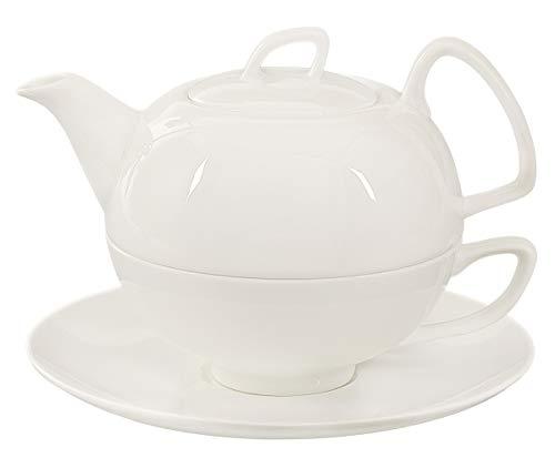 Buchensee Tea for one Schwanensee 550ml. Teeset 4-teilig aus Fine Bone China in hoch-modernem Design.