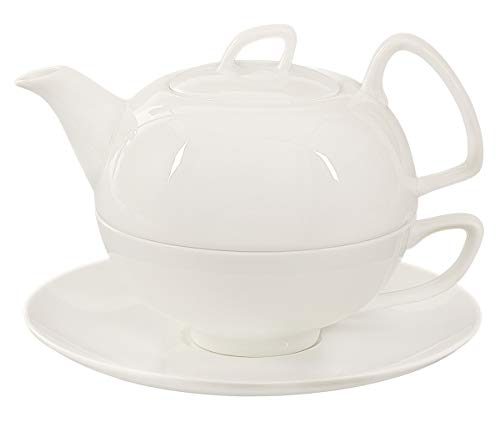 Buchensee Tea for one Schwanensee 550ml. Teeset 4-teilig aus Fine Bone China in hoch-modernem Design.