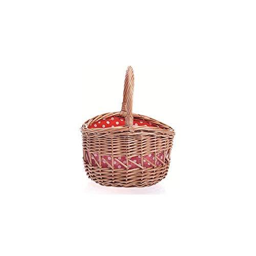 Egmont Toys Kinder-Einkaufskorb, kleiner Korb, innen rot/weiß gepunktet Maße: 17 x 14 x 18 cm