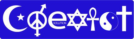 Bumper Planet - Car Magnet - Coexist (Blue) - 3 x 10 inch - Professionally Made in USA