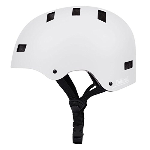 Critical Cycles Classic Commuter Bike/Skate/Multi-Sport CM-1 Helmet with 10 Vents, Matte White, Large: 59-63cm / 23.25 - 24.75 inches