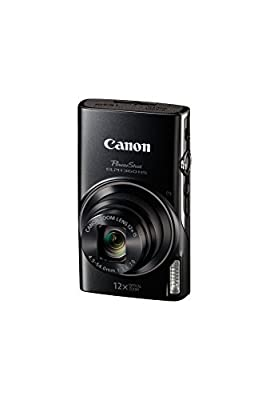 Canon PowerShot ELPH 360 HS 20.2 Megapixel Digital Camera with 12x Optical Zoom 3.0-inch TFT LCD and Built-In Wi-Fi(Black) by Canon