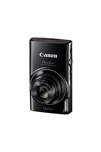 Canon PowerShot ELPH 360 Digital Camera w/ 12x Optical Zoom and Image Stabilization - Wi-Fi & NFC Enabled (Black)