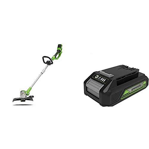 Greenworks Tools Cortadora de césped sin cable G24LT Basic + Batería G24B2 2ª generación + Cargador de baterías G24UC