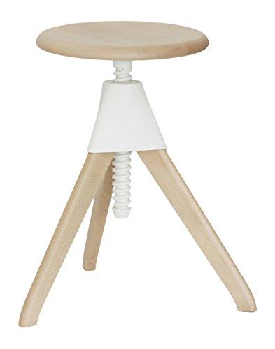 Magis Jerry kruk 50-66 cm, wit frame beuken