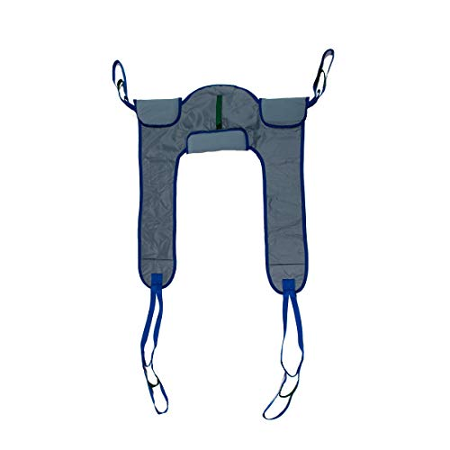 Patient Aid Deluxe Padded Toileting Patient Lift Sling, with Belt, Size (Large), 450lb Weight Capacity